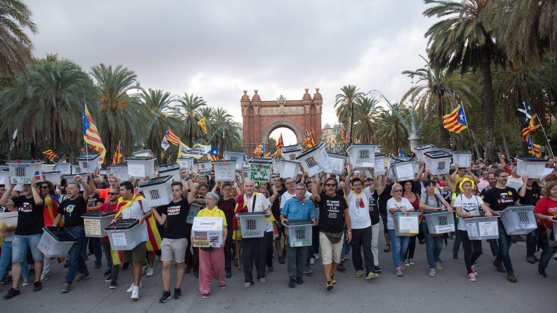 Manifestación por el primer aniversario del referéndum del 1 de octubre en Barcelona. (D. B.)