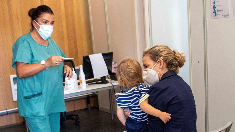 Unidad para niños con síntomas covid-19 en Palma de Mallorca. (EFE)