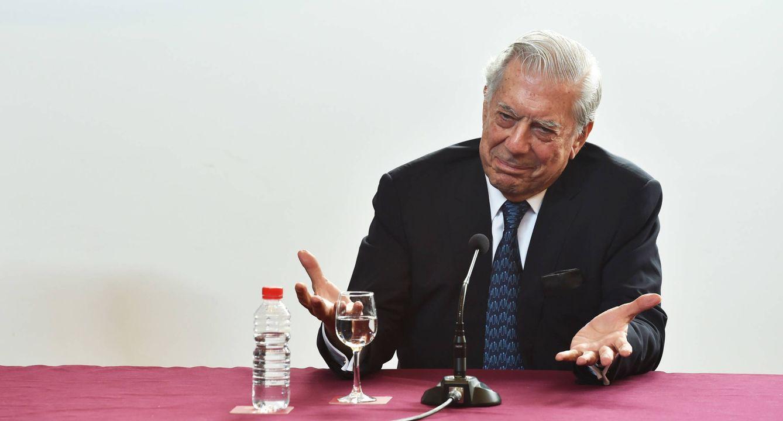 Foto: Mario Vargas Llosa en Burgos (Gtres)