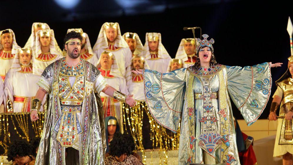Foto: Una representación de 'Aida' en Guiza, Egipto. (EFE)