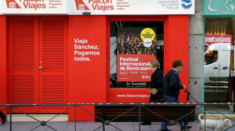 Foto: Fachada de la agencia de viajes Falcon Viajes, abierta por Nuevas Generaciones del Partido Popular. (EFE)