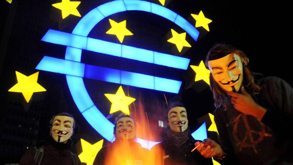 Foto: Manifestación contra el BCE en Fráncfort (Alemania). (EFE)