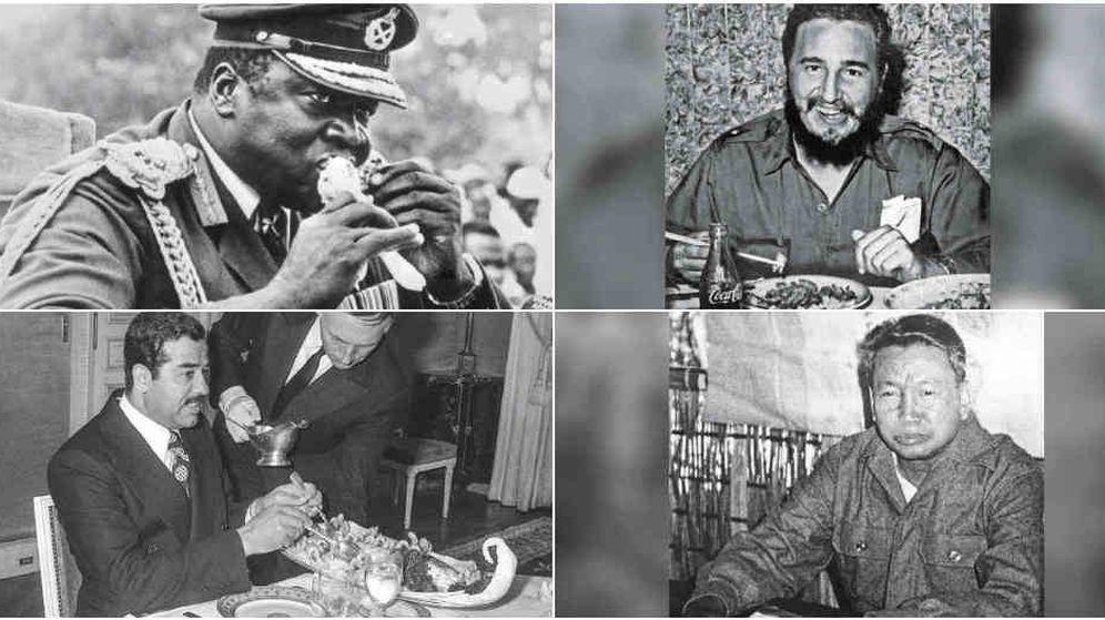 Foto: Idi Amín, Fidel Castro, Saddam Hussein y Pol Pot