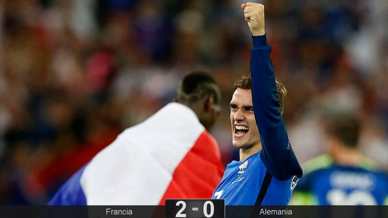 Foto: Griezmann celebra la victoria. (Foto: EFE)