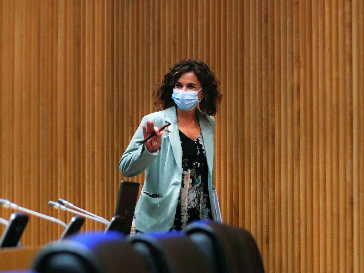 Foto: La ministra de Hacienda, María Jesús Montero, presenta los Presupuestos Generales del Estado de 2021. (EFE)