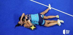 Post de El abrazo del pádel, el abrazo de las gemelas Sánchez Alayeto