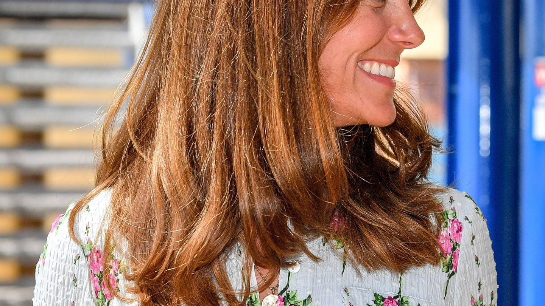 Detalle del nuevo corte de pelo de Kate Middleton. (Cordon Press)