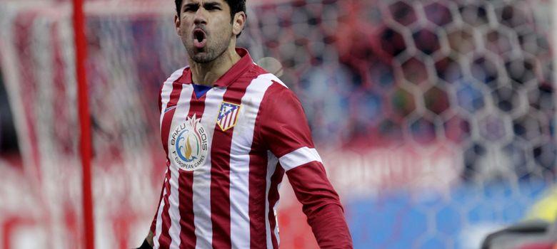 Foto: Diego Costa celebra un gol en el partido ante el Valencia (Efe).