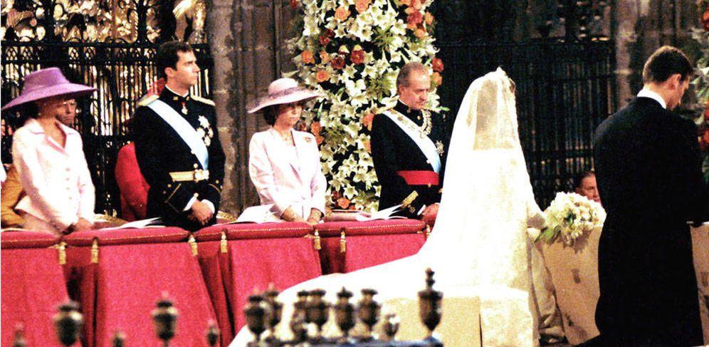 Foto: Una escena de la boda en un fotomontaje de Vanitatis.