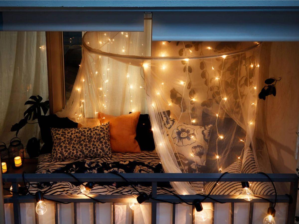 Foto: Romántica velada en tu balcón con Ikea. (Cortesía)