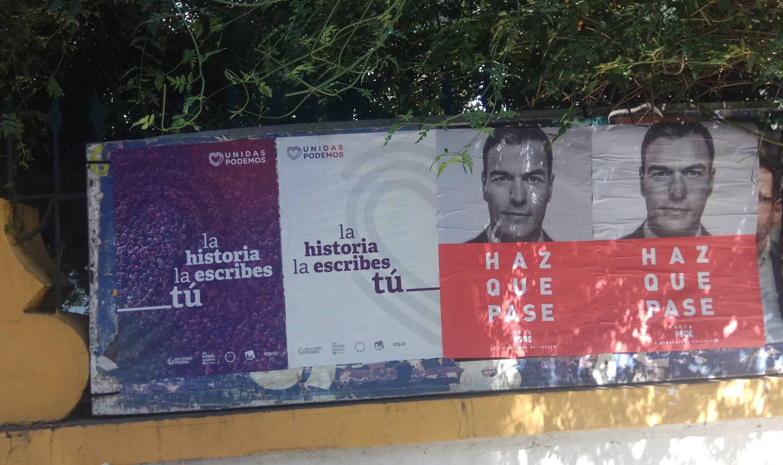 Cartelería electoral. (Foto: I. M.)