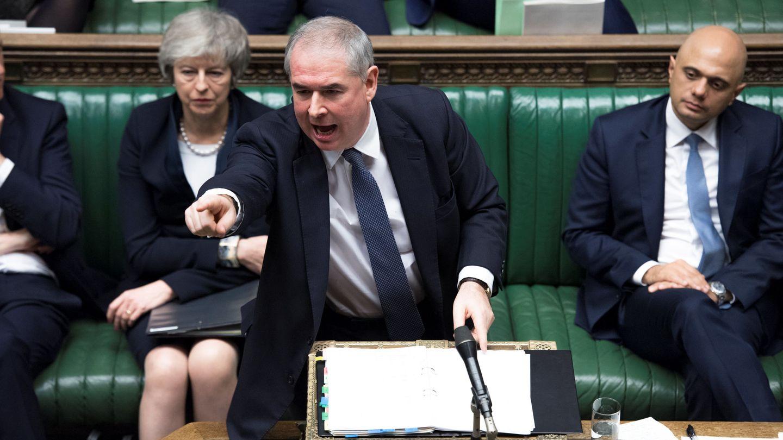 Geoffrey Cox durante una sesión en el Parlamento británico. (Reuters)