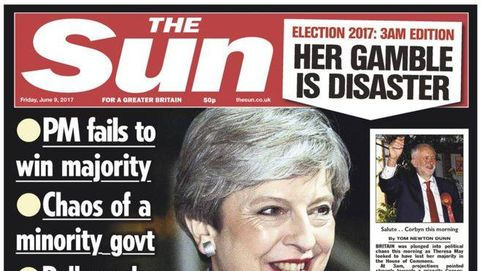 La prensa británica coincide: May ha fracasado