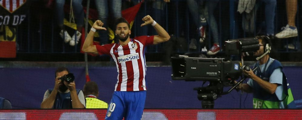 Foto: Yannick Carrasco celebra el gol que le dio el triunfo al Atlético de Madrid ante el Bayern (Reuters)