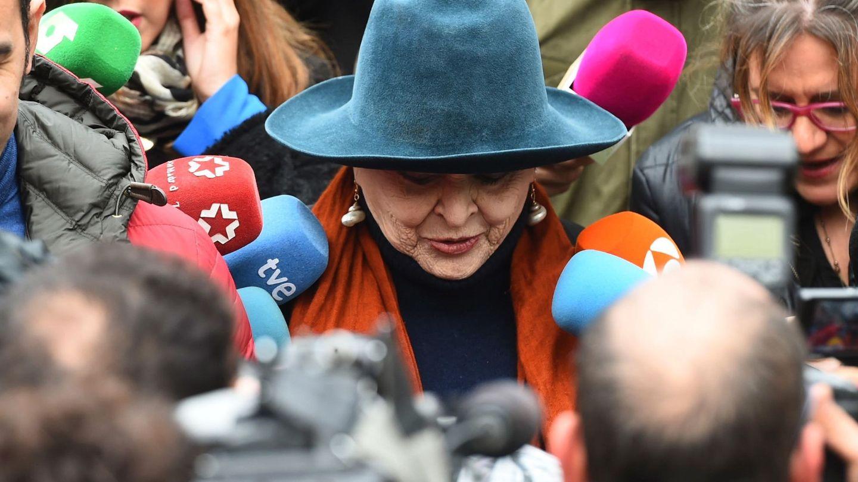 Lucía Bosé, el día del juicio. (EFE)
