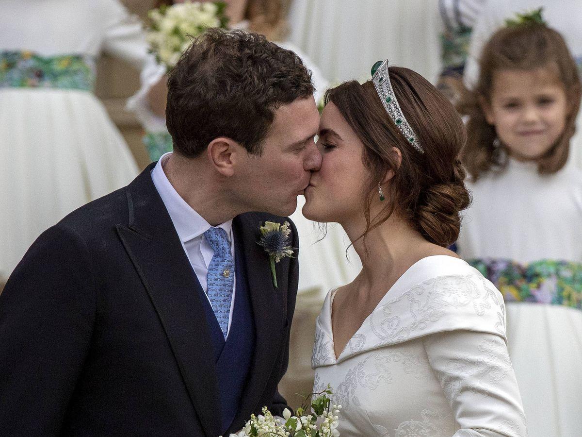 Foto:  La princesa Eugenia de York, el día de su boda. (Getty)