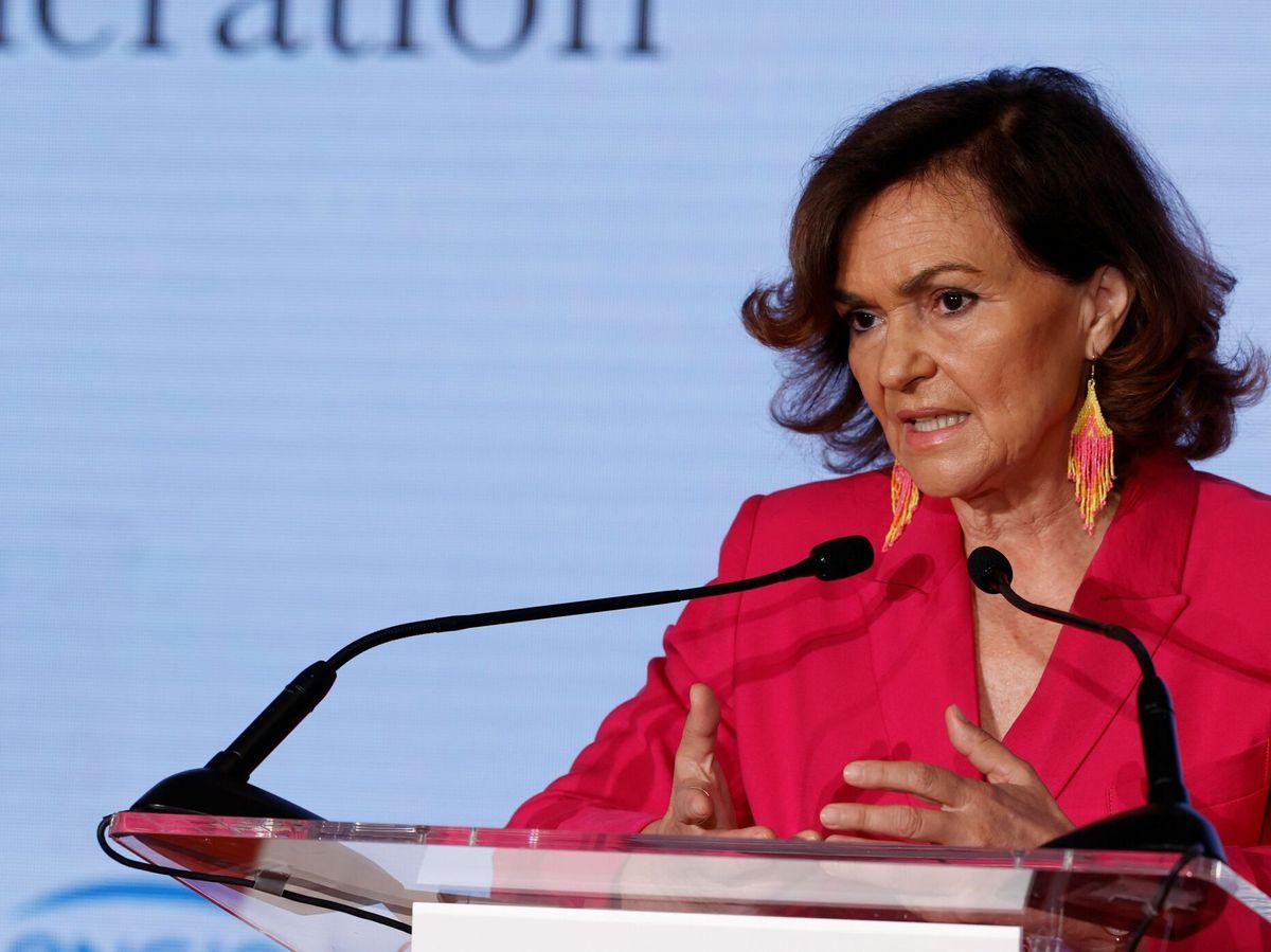Foto: La vicepresidenta primera del Gobierno, Carmen Calvo. (EFE)