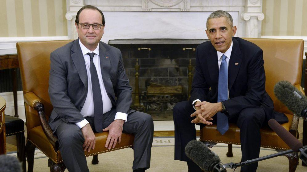 Foto: El presidente de EEUU, Barack Obama (d), junto a su homólogo francés, François Hollande. (EFE)