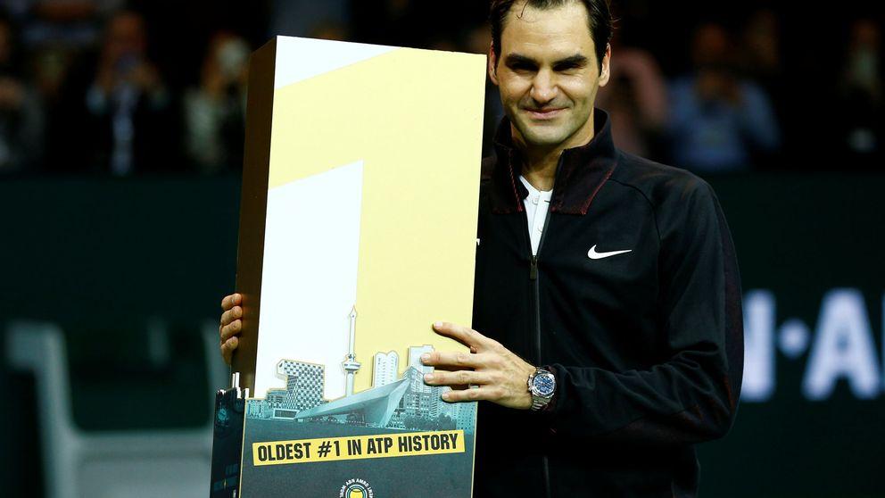 Federer arrebata el trono a Nadal: es el número 1 más veterano de la historia