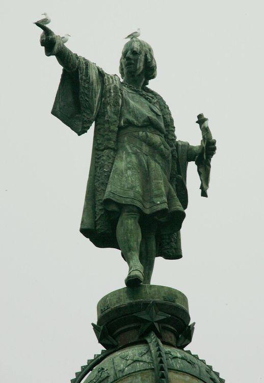 Foto: Estatua de Cristóbal Colón en la Rambla de Barcelona.