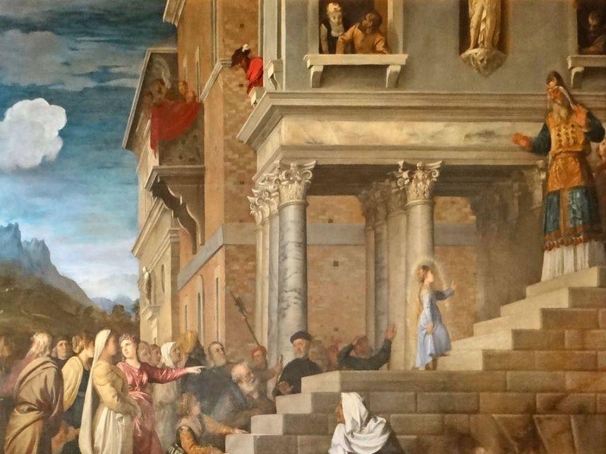 Foto: 'Presentación de la Virgen en el templo', de Tiziano. (C.C.)