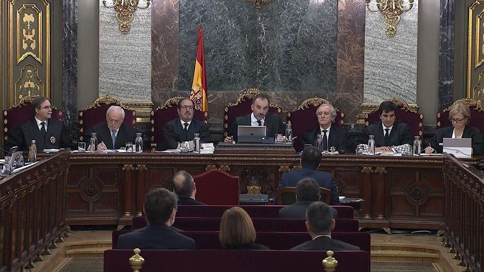 Foto: La sala del Tribunal Supremo donde se celebra el juicio del 'procés'. (EFE)