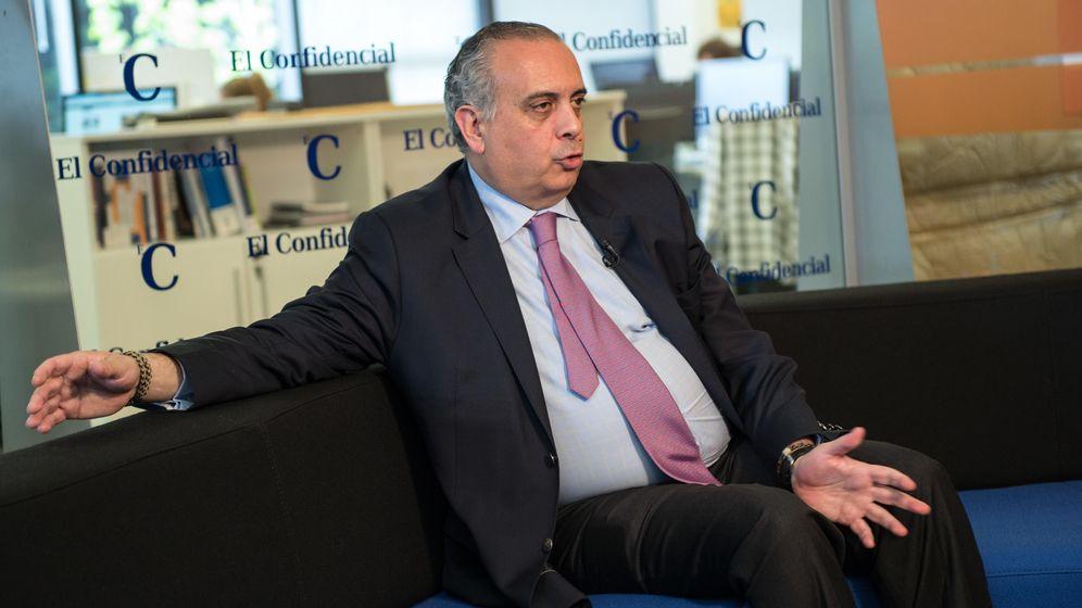 Foto: José Luis Sáez, durante si visita a 'El Confidencial' (Foto: Daniel Muñoz)