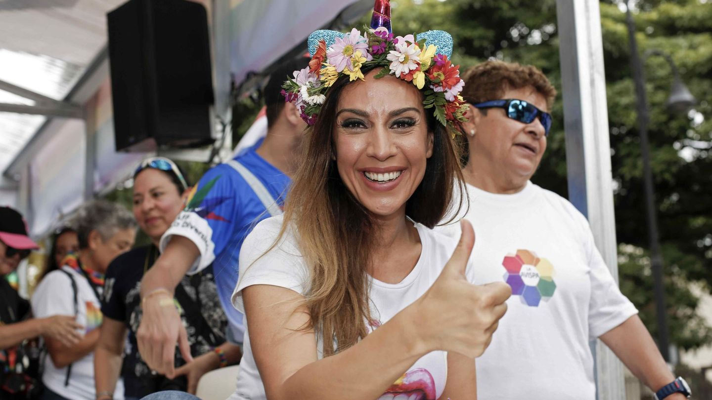 Mónica Naranjo, el en Gay Pride de Costa Rica el año pasado. (EFE)