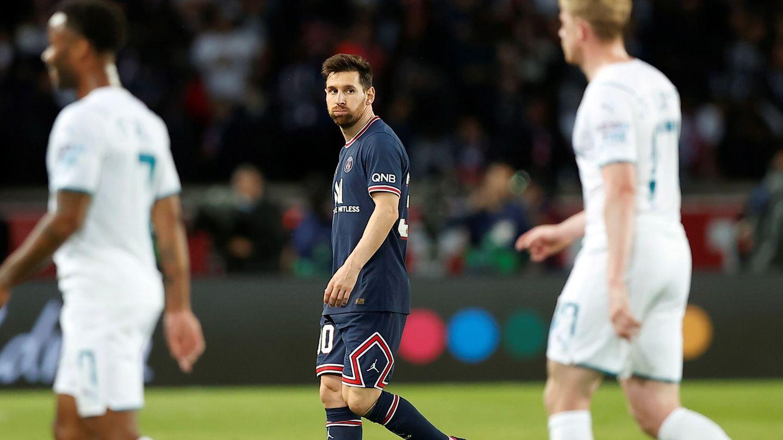 Messi, durante el partido. (Reuters)