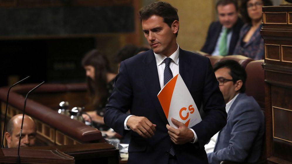 Foto: El líder de Ciudadanos, Albert Rivera, en el debate de investidura. (EFE)