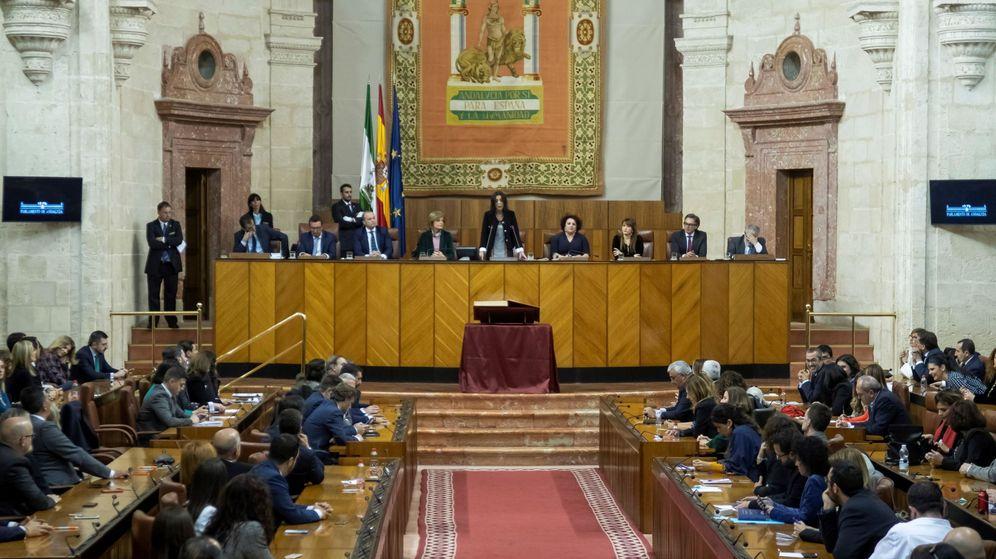 Foto: Constitución del Parlamento de Andalucía de la XI Legislatura. (EFE)