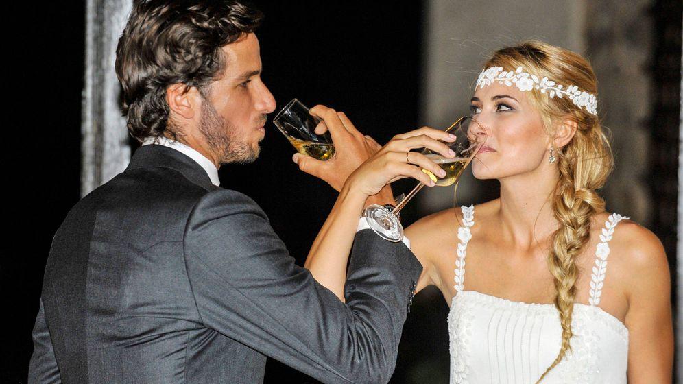 Foto: Feliciano López y Alba Carrillo, el día de su boda. (Cordon Press)