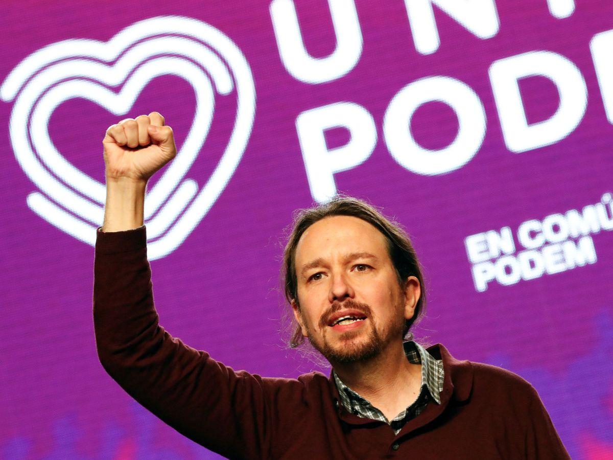 Foto: Pablo Iglesias durante el mitin de cierre de la campaña de Unidas Podemos en Madrid. (EFE)