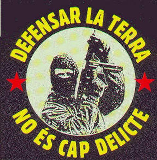 Foto: Propaganda de Terra Lliure en los años ochenta.
