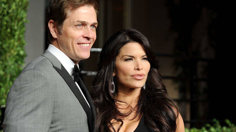 Lauren Sanchez con su actual marido, Patrick Whiteshell. (Getty)