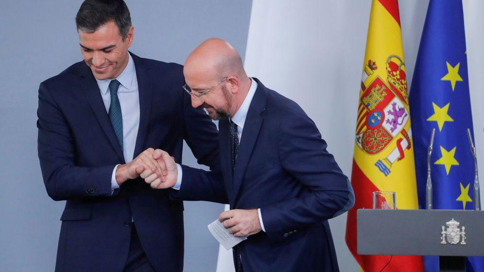 Foto: Pedro Sánchez junto a Charles Michel, presidente del Consejo Europeo. (Reuters)