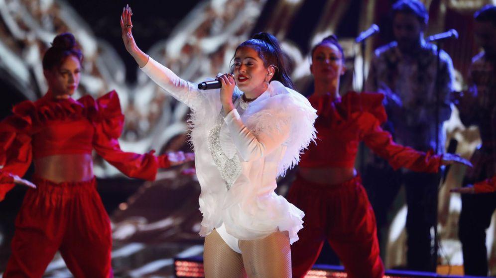 Foto: Rosalía durante los Grammy Latinos en 2018 (Reuters)