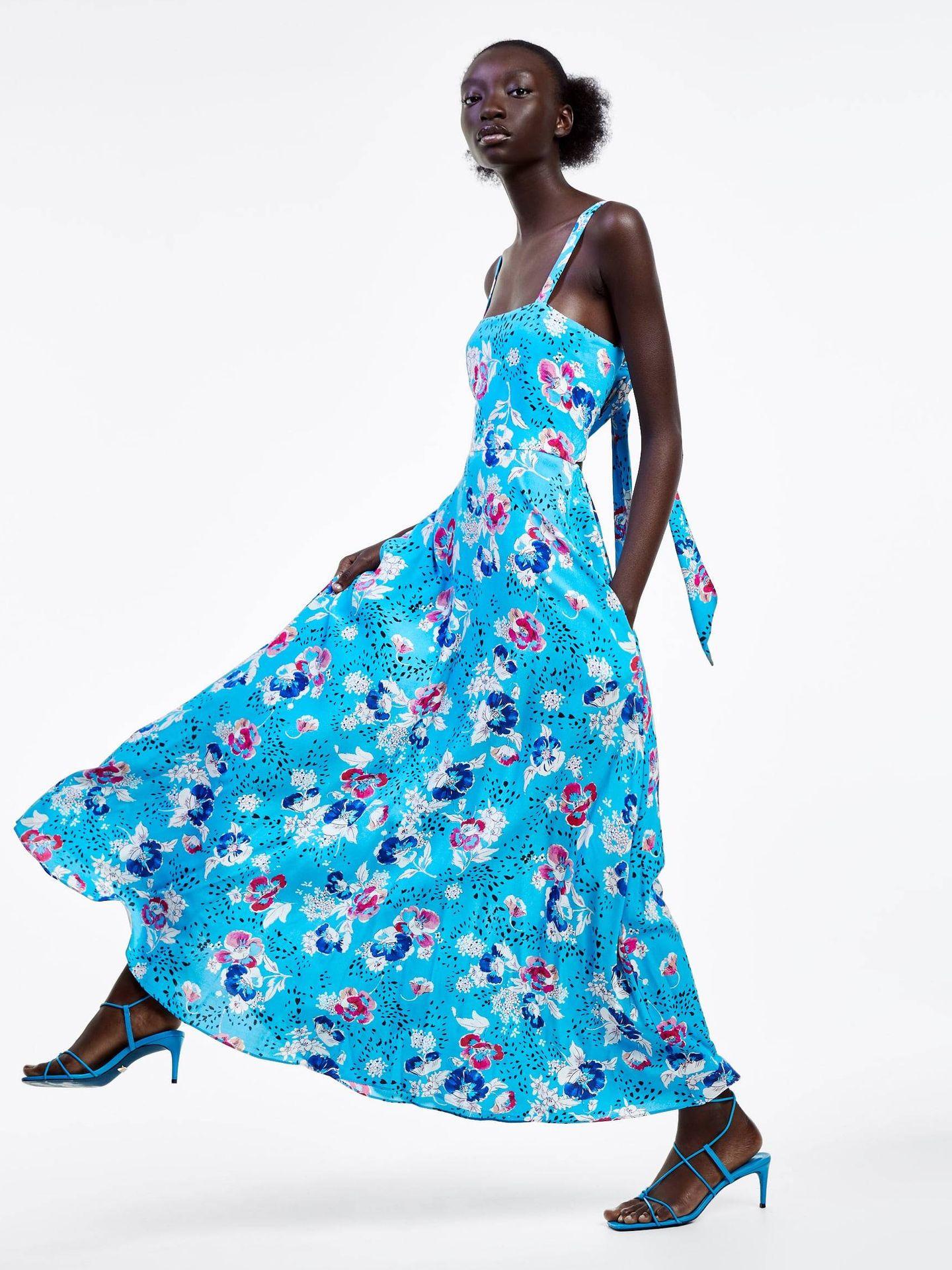 El vestido más favorecedor de Zara.  (Cortesía)