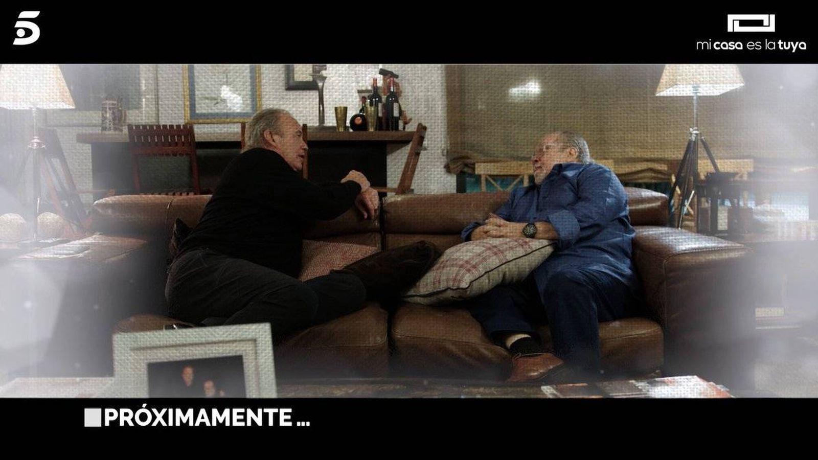 Foto: Arévalo y Bertín Osborne en 'Mi casa es la tuya'. (Mediaset España)