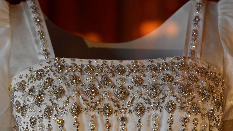 Detalle del vestido de novia de Beatriz de York. (Reuters)