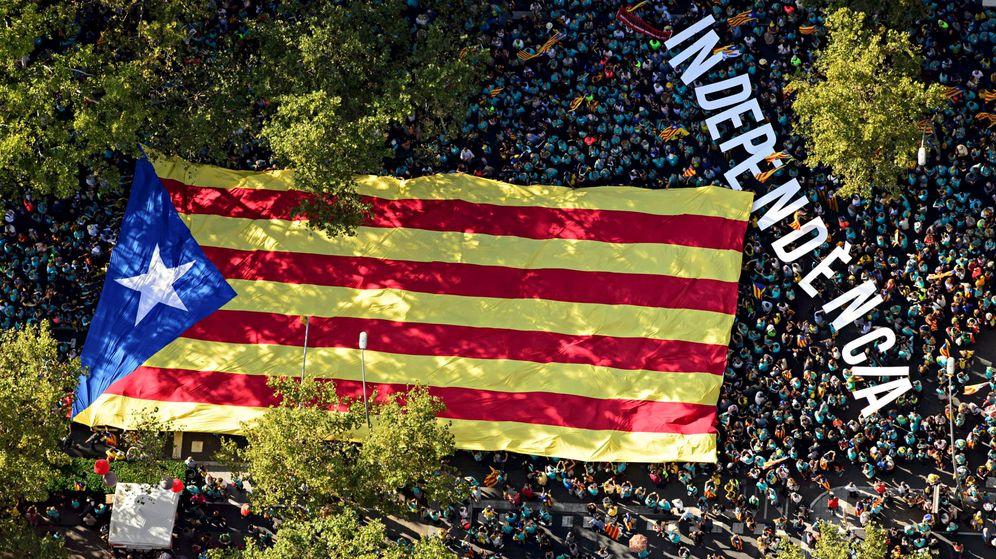 Foto: Un momento de la manifestación de la Diada de 2019. (Reuters)