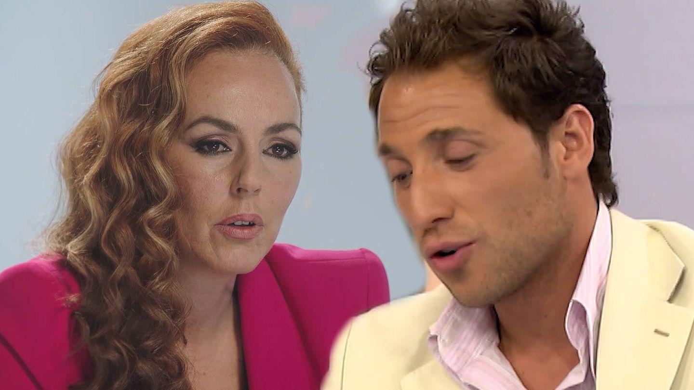Rocío Carrasco y Antonio David Flores, en 'Rocío, seguir viva'. (Mediaset)