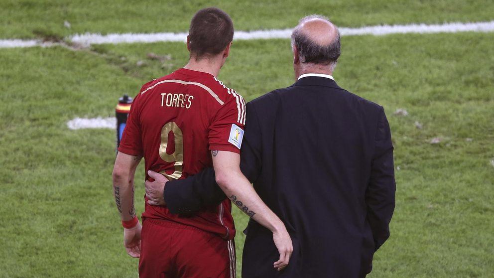 Fernando Torres recuerda a Del Bosque que aún sigue siendo el '9' de España