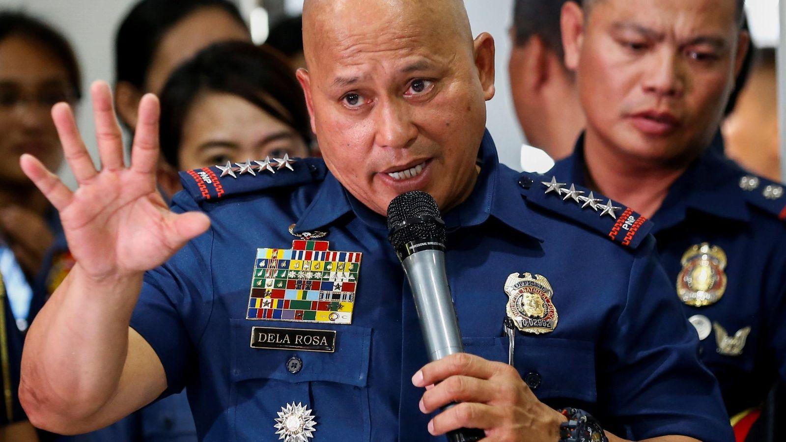 Foto:  El director general de la Policía filipina, Ronald de la Rosa, conocido como 'La Roca'. (EFE)