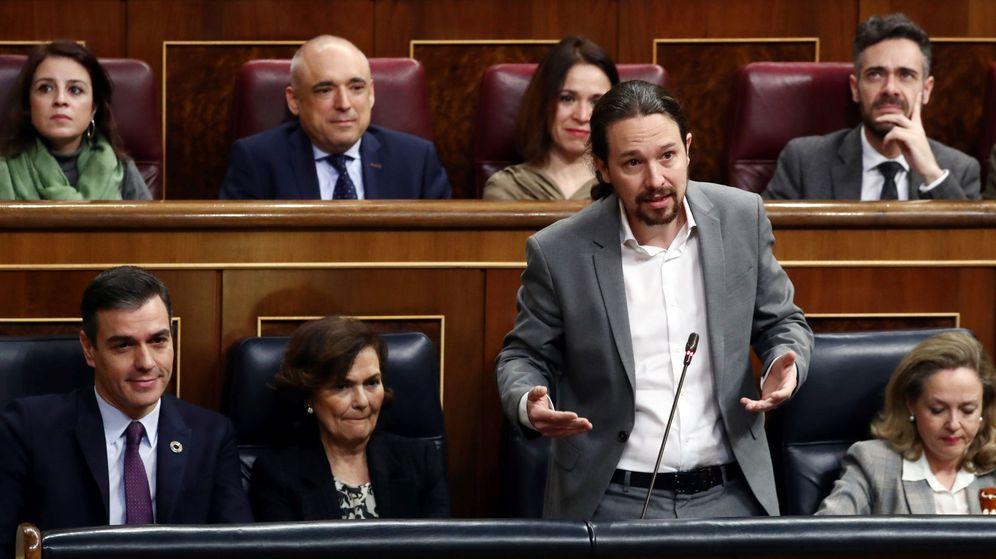 Foto: El vicepresidente del Gobierno, Pablo Iglesias, en el Congreso. (Reuters)