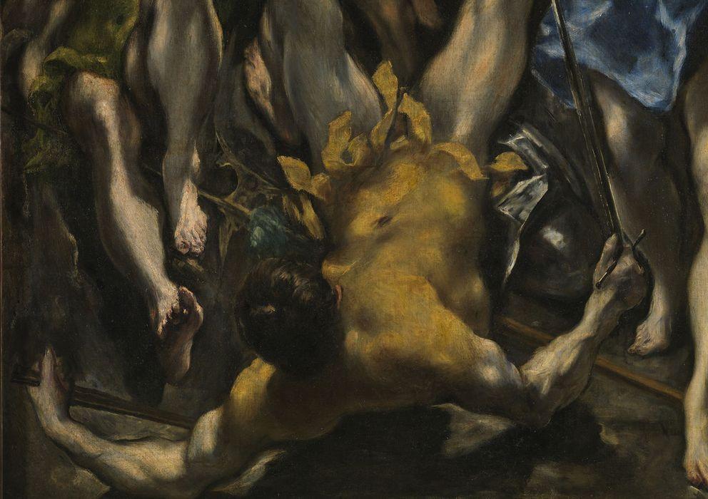 Foto: Un detalle de la parte inferior de 'La resurrección de Cristo', de 1597, del Greco.