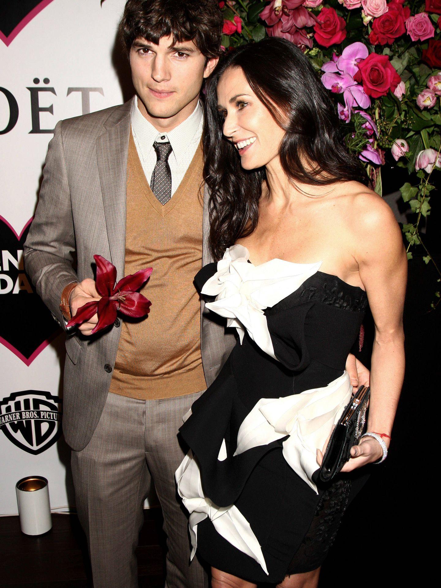Ashton y Demi, en una imagen de 2010. (Getty)