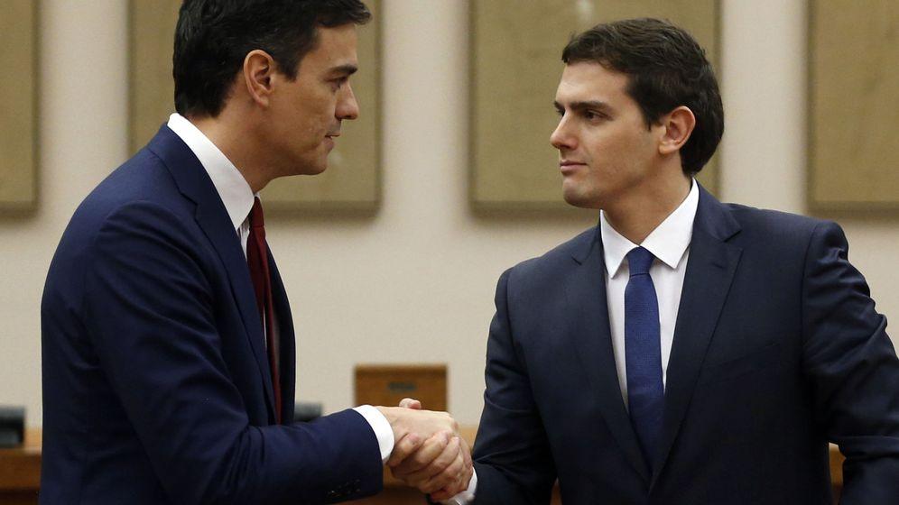 Foto: Pedro Sánchez y Albert Rivera.