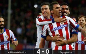 Recital del Atlético para arrollar al Olympiacos y sellar el pase a octavos