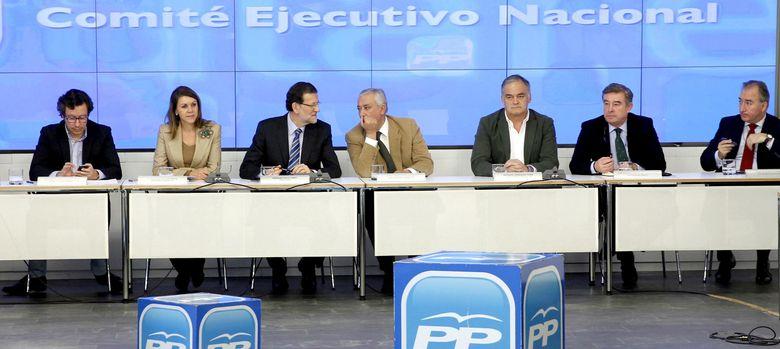 Foto: Foto de archivo de una reunión extraordinaria del Comité Ejecutivo Nacional del PP. (EFE)
